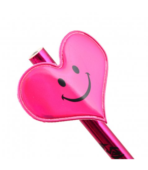 """Олівець YES ч / гр круглий, c тканевим декором """"Heart"""", корпус металік"""