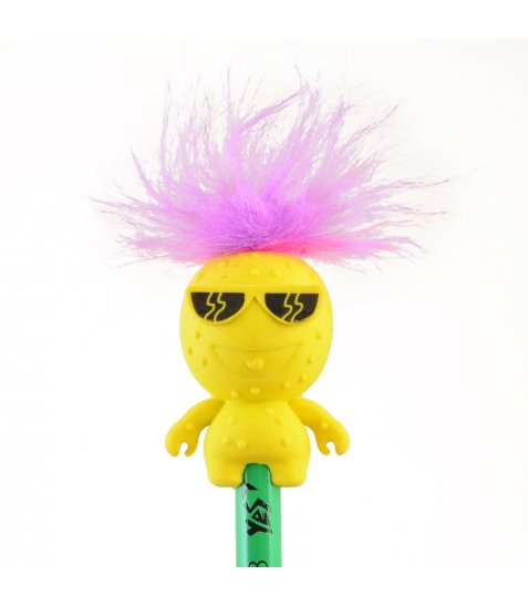 """Олівець YES ч / гр круг. з гумкою-топпер """"Hairy Monster"""", 24 шт / уп"""