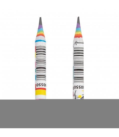 """Олівець Еко YES ч/гр. круглий, паперовий """"Happy colours"""", 2 диз./ туб."""