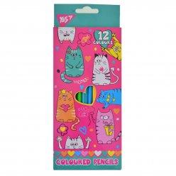 "Олівці 12 кол. ""Lovely cats"""
