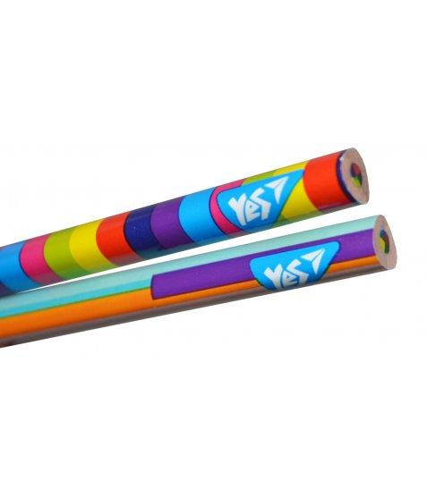 """Олівець YES """"Rainbow"""" з чотирибарвним грифелем, трикутний, заточен."""