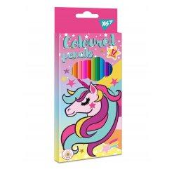 """Олівці кольорові YES 12 кол. """"Unicorn"""""""