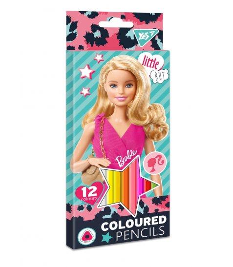 """Олівці кольорові YES 12 кол. """"Barbie"""""""
