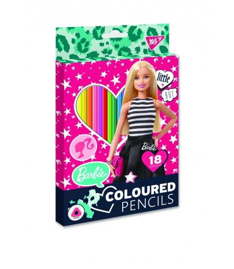 """Олівці кольорові YES 18 кол. """"Barbie"""""""