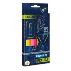 """Олівці кольорові YES 12/24 кол. """"Oxford"""""""