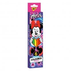 "Олівці кольорові YES 6 кол.  ""Minnie Mouse"""