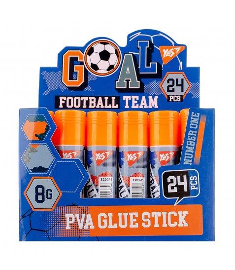 """Клей-олівець YES, 8г, PVA """"Football"""""""