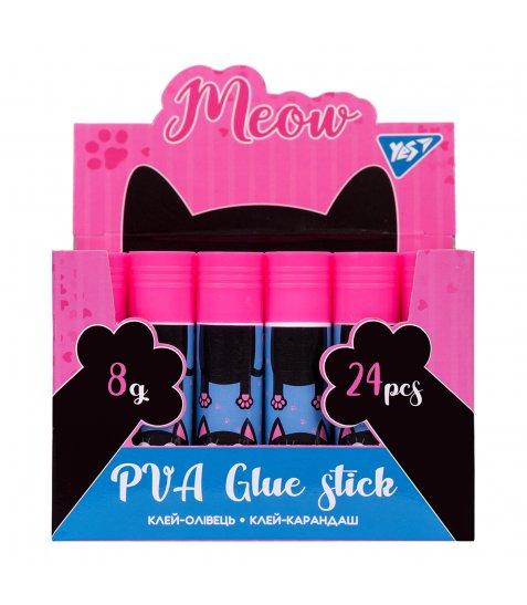 "Клей-олівець YES, 8г, PVA ""Meow"" - фото 2 з 2"