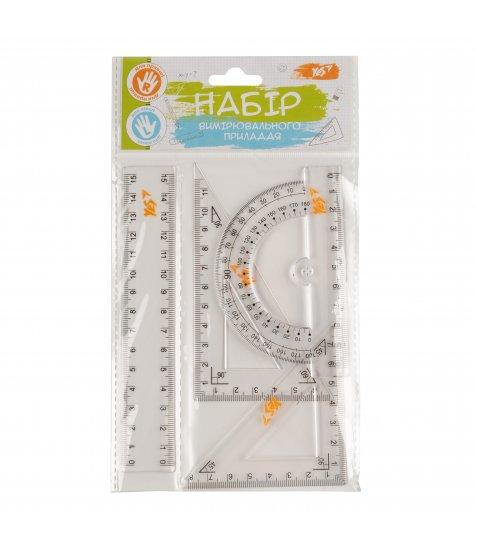 Набір лінійок YES (4 предм.), лінійка 15 см - фото 1 з 2