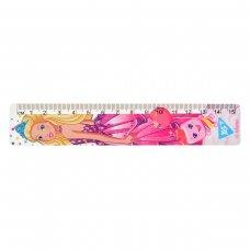 "Лінійка YES 15 см ""Barbie"""