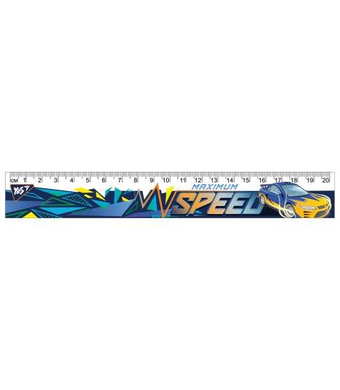 """Лінійка YES 20 см """"Speed Car"""""""