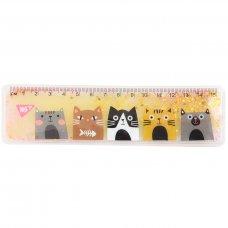 """Лінійка YES з рідиною 15 см """"Cats"""""""