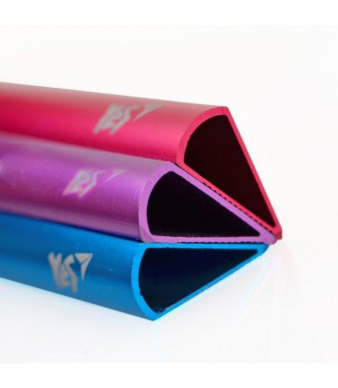 """Лінійка YES 15см метал. """"Triangle"""" яскраво-рожева перламутрова"""