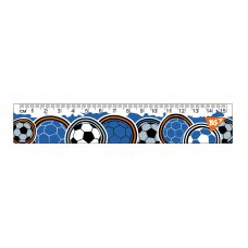 "Лінійка YES 15см ""Football"""