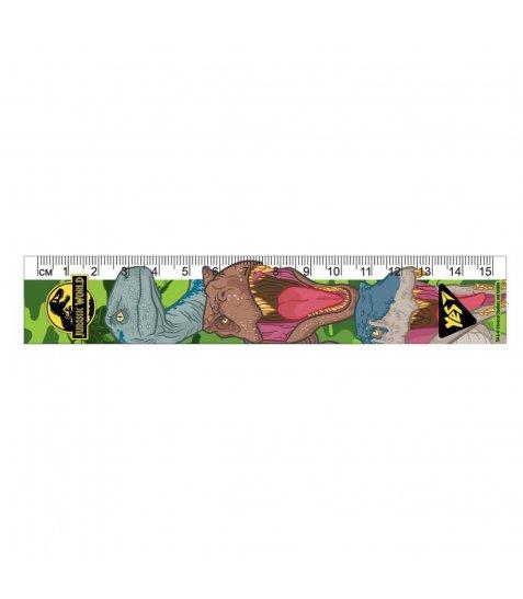 """Лінійка YES 15см """"Jurassic World"""" - фото 1 з 1"""