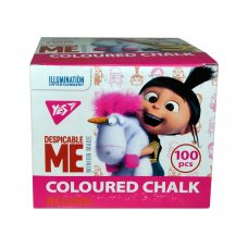 "Coloured chalk, round, 100 pcs ""Minions Fluffy"""