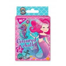 """Крейда YES кольорова квадратний 12 шт. """"Mermaid"""""""