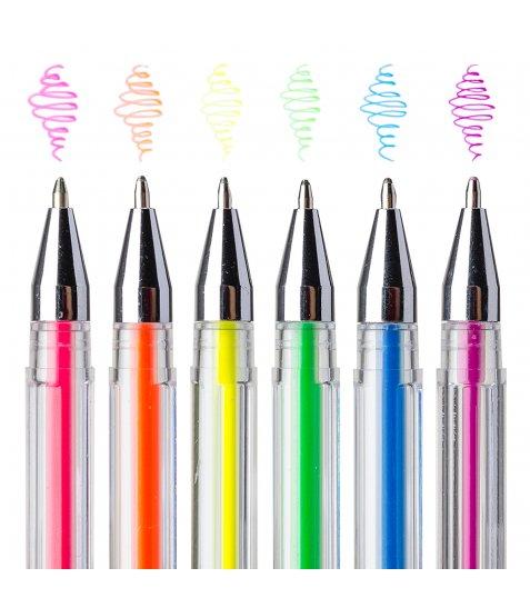 """Ручки гелеві  у наборі YES """"Neon"""", неон, 6 шт./наб."""