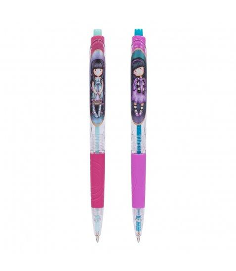 Ручка YES кульково-масляна «Santoro Little Song and Santoro Rosebud», автоматична 0,6мм, с