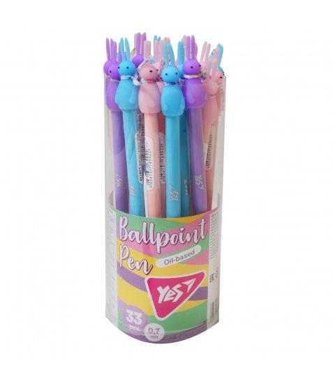 """Ручка YES шарико-масляна """"Rabbit"""", 0,7 мм, синя"""