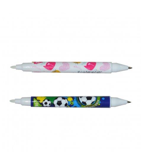 """Ручка YES кульково-масляна """"Шпигун"""", двостороння з УФ-ліхтариком, мікс дизайнів"""
