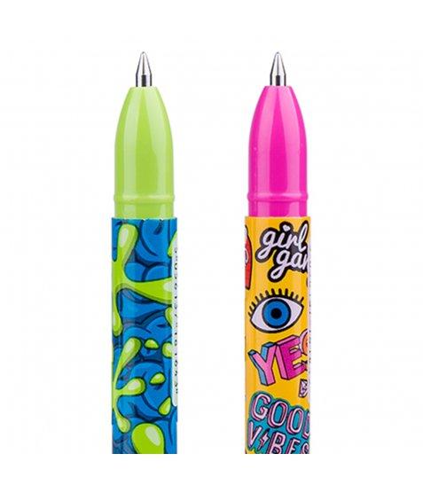 "Ручка гелева YES пиши-стирай """"Mister Hipster"" 0,5 мм, синя"