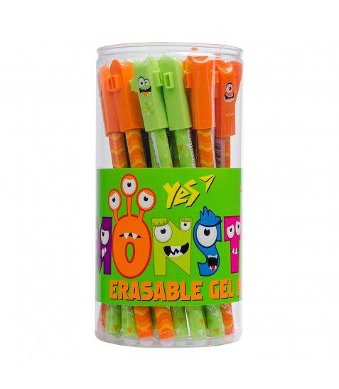 """Ручка YES гелева пиши-стирай """"Monsters"""" 0,5 мм, синя"""