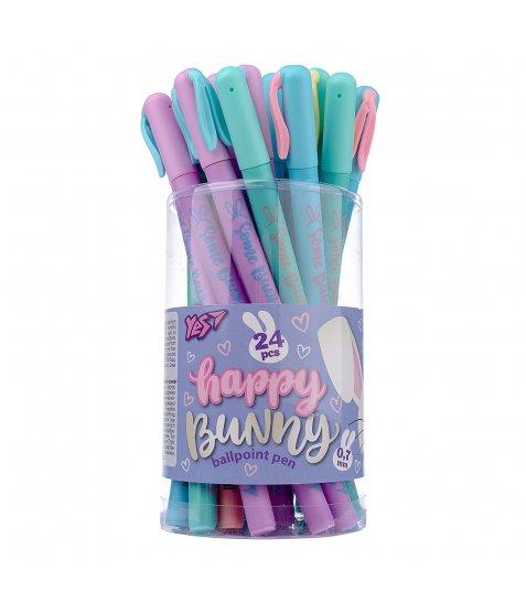 "Ручка кулькова YES ""Funny bunny"" 0,7 мм, синя"