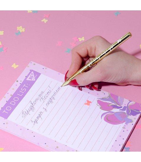 "Ручка кулькова YES ""Happy pen"", золот.., 1шт/уп"