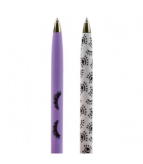 """Ручка кулькова поворотна зі стилусом YES """"Donna"""", 2 диз., 2шт/уп"""