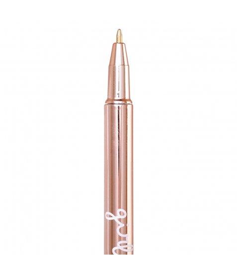 "Ручка кулькова YES ""Happy pen"", роз. золот., 1шт/уп"