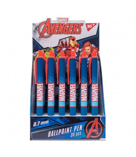 "Ручка кулькова YES ""Marvel"", 0,7 мм, автоматична"