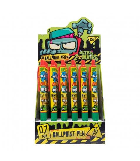 "Ручка кулькова YES ""Zombie"", 0,7 мм, автоматична"
