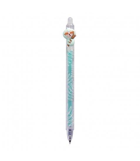 Ручка гелева YES  пиши-стирай «Lazy boys» автоматична,  0,5 мм, синя