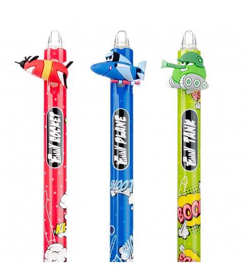 Ручка масляна YES «Comic machines» автоматична,  0,7 мм, синя