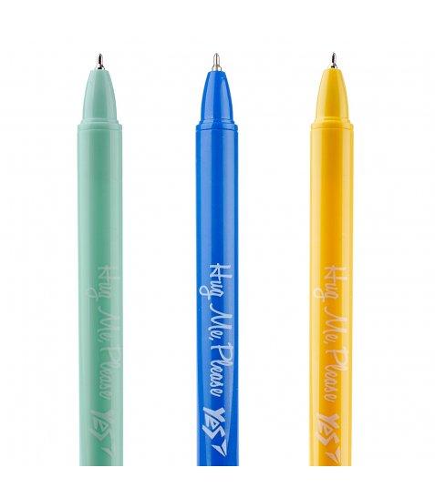 Ручка масляна YES «Cactus garden» автоматична,  0,7 мм, синя