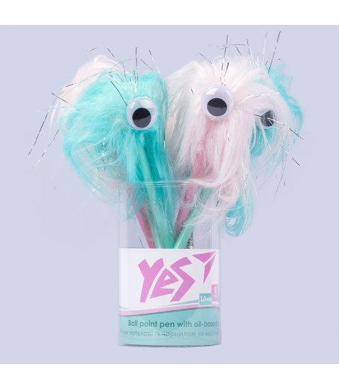 Ручка YES кульково-масляна «Pom-Pom Monster», 1,0мм, синя
