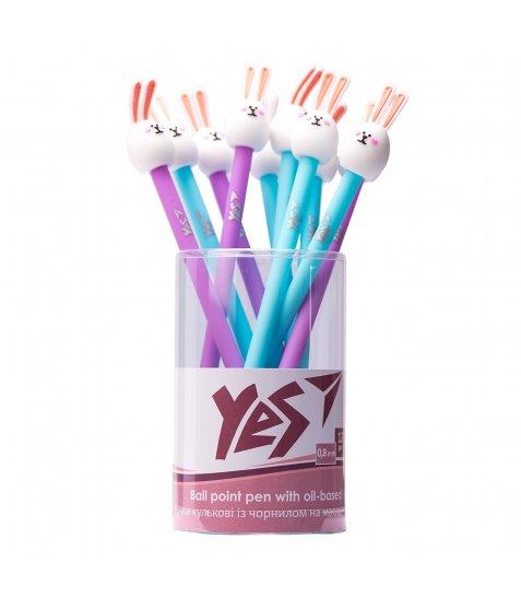 Ручка YES кульково-масляна «Chubby Bunny» , 0,8мм, синя