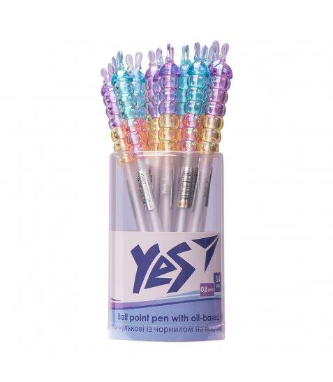 Ручка YES кульково-масляна «Crystal Bunny», 0,8мм, синя