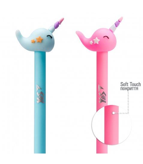 Ручка YES кульково-масляна «Uni-Whale», 0,8мм, синя