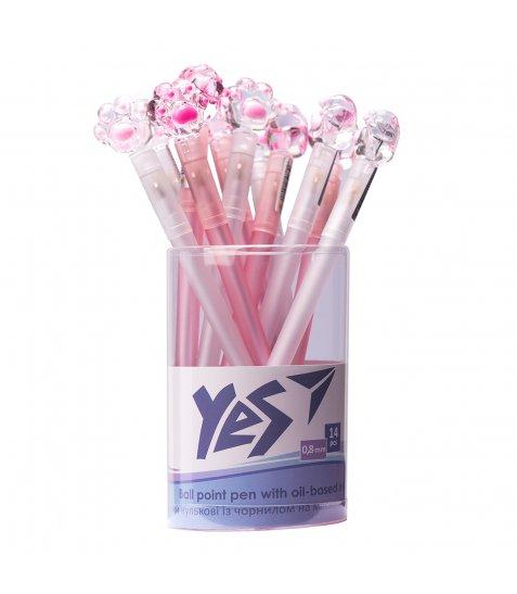 Ручка YES кульково-масляна «Crystal Paw», 0,8мм, синя