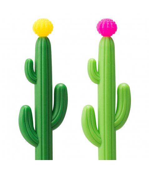 Ручка YES кульково-масляна «Blooming Cactus», 0,8мм, синя