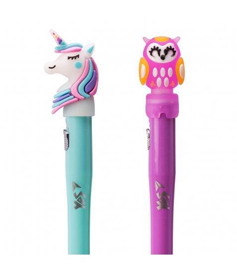 Ручка YES кульково-масляна «Magic Forest», 0,8мм, синя, LED