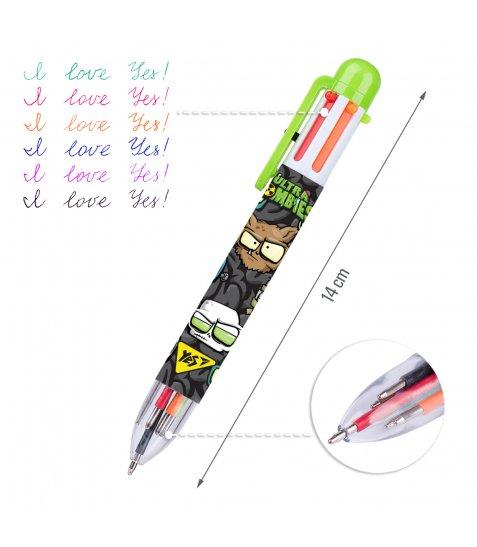"""Ручка кулькова YES """"Zombie"""", 1,0 мм, 6 кольорів"""