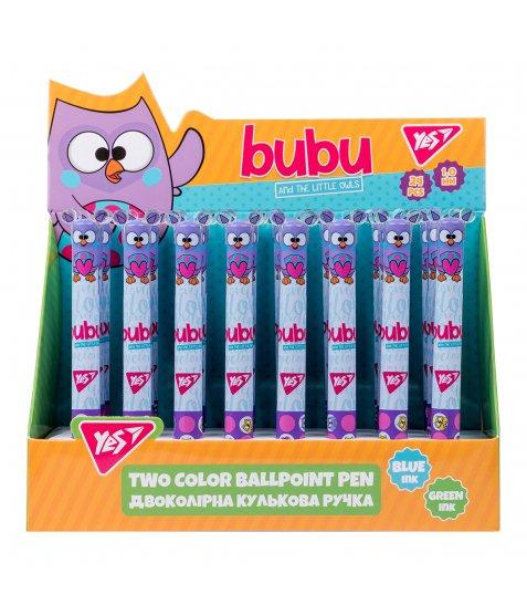 """Ручка кулькова YES """"Bubu"""", 1,0 мм, 2 кольори"""