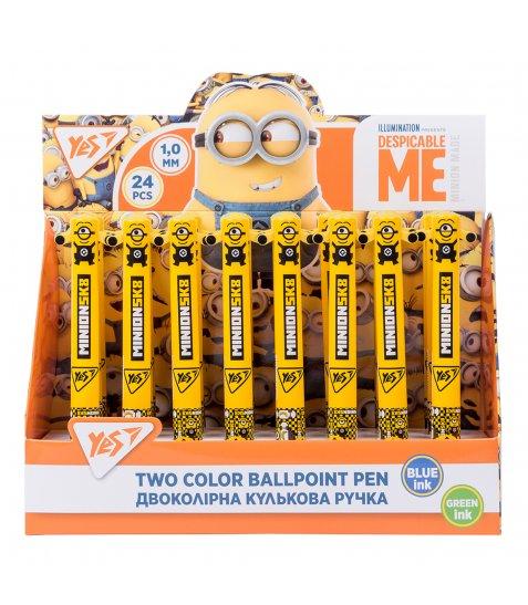 """Ручка кулькова YES """"Minion"""", 1,0 мм, 2 кольорів"""