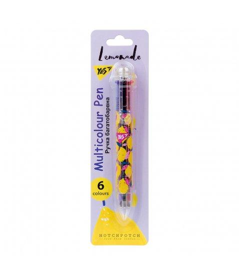 """Ручка кулькова YES """"Hotch Potch Lemonade"""", 1,0 мм, 6 кольорів"""