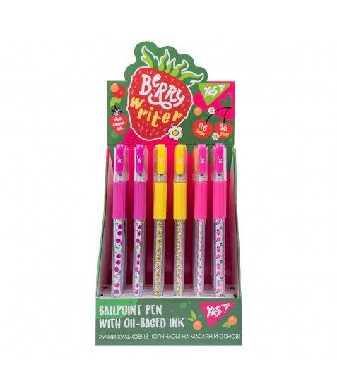 Ручка YES кульково-масляна «Berry writer», 0,6мм, синя