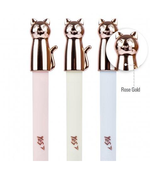 Ручка YES кульково-масляна «Cute Cat», 0,7мм, синя