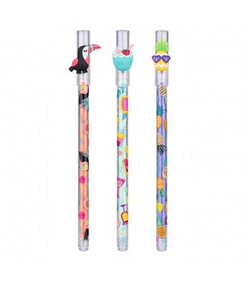 "Ручка масляна YES ""Aloha Party"", 0,7 мм, синяя"